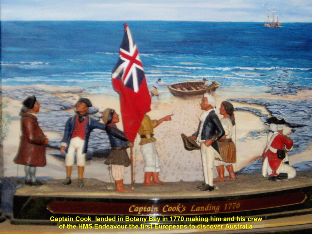 captain cook lands in australia