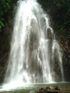 Angel Waterfall in Gu Po Mountain