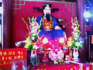 A statue of Justice Bao in his Memorial Hall