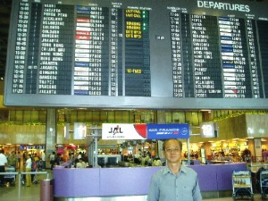 Writer at Changi International Airport