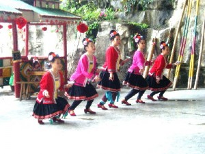 Dong Girls performing a traditional dance