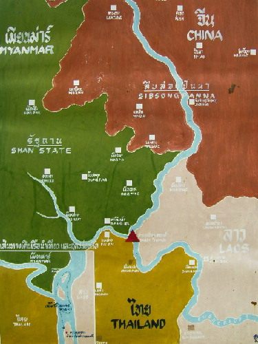 Map showing the location of the Golden Triangle