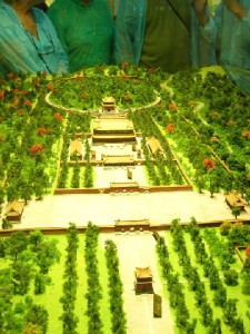 A scaled model of Emperor Shenzong's tomb in Dingling