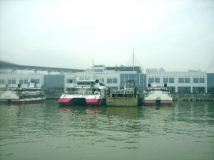 Ferries at the Macau ferry terminal