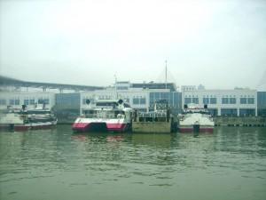 Ferries at the Macau ferry terminal