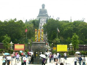 Tian Tan Garden and Tian Tan Buddha on a small hill