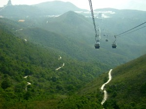 Lush green terrains of Lantau Island