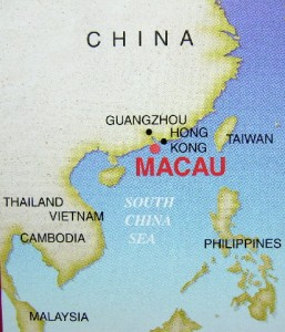 Location of Macau