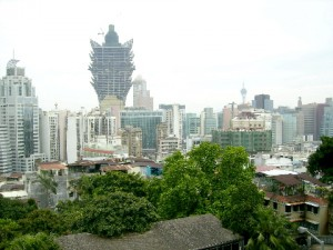 Macau Skyline (Macau Sky Tower is in the distance)