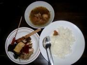 A 50,000 Rp meal at a Denpasar restaurant