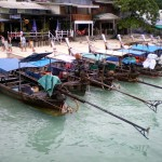 Taxi-boats in the Ton Sai Bay