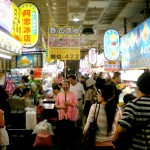 Crowded Shilin Night Market