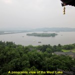 A panoramic view of the West Lake from Leifeng Pagoda