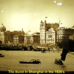 An old photo showing the Bund in Shanghai in the 1920's