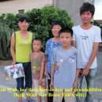 Aunty Kek Wah(centre) with her daughter-in-law and grandchildren