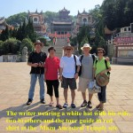 Writer and others at the Mazu Ancestral Temple Site