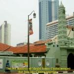 Minarets of Jamae Chulia Mosque look like Chinese pagodas