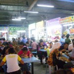 Malays breaking fast at foodstalls