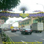 Busy Serangoon Road with Deepavali decorations