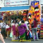 A flower-garland shop