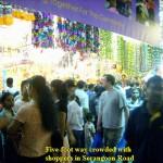 A crowded walkway in Serangoon Road