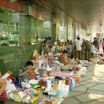 A flea market at Far East Square