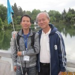 Writer(R) and Lee, the Lijiang guide(L)