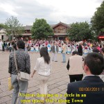 Dancing in an open space in Old Lijiang Town