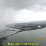 Heavy rain over Kunming City