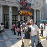 """The Amazing Adventures of Spiderman"" studio in the Background"