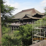 Kiyomizu Temple surrounded by cherry and maple trees