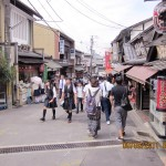 Souvenir street that goes to Kiyomizu Temple