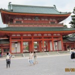 Entrance to Heian Temple in Kyoto