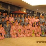"Tour Group in ""Yukata"", a Japanese traditional costume"