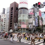 Busy crossroads at Ginza 4-chome