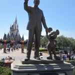 Statue of Walt Disney with Mickey Mouse