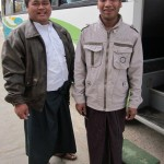 Left: Bagan Bus-Driver(Htun Zaw) Right: Bus Assistant(Win Soe)