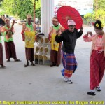 A Myanmar traditional dance outside the Bagan Airport