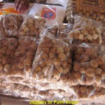 Packets of palm sugar or jaggery sugar