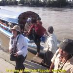 Taking a ferry to the Yele Pagoda, Kyauktan
