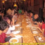 Malaysian tourists enjoying a buffet dinner in Karaweik Hall
