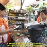 A betel quid hawker in Kyauktan Town
