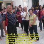 "Looking at the ""umbrella""(hti) atop Shwedagon Pagoda"