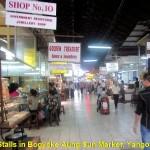 Stalls in Bogyoke Aung Sun Market, Yangon