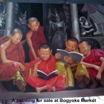A painting for sale at Bogyoke Market