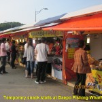 Seafood-snack stalls