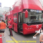 Tourist bus for city-sightseeing
