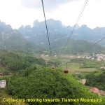 A long cable-car ride to Tianmen Mountain
