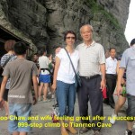 Writer and wife in Tianmen Cave