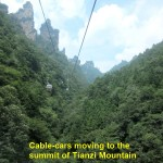 Tianzi Mountain cable-cars